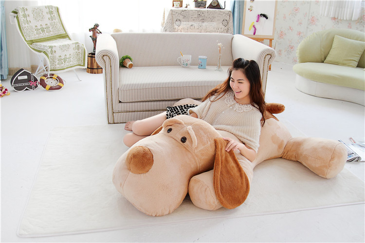 largest size 140cm prone dog plush toy ,stuffed toy, sleepng pillow,hug pillow,surprised birthday gift h2993 75cm super cute plush toy dog lipstick dog pillow doll lying prone as gifts to friends and children with down cotton
