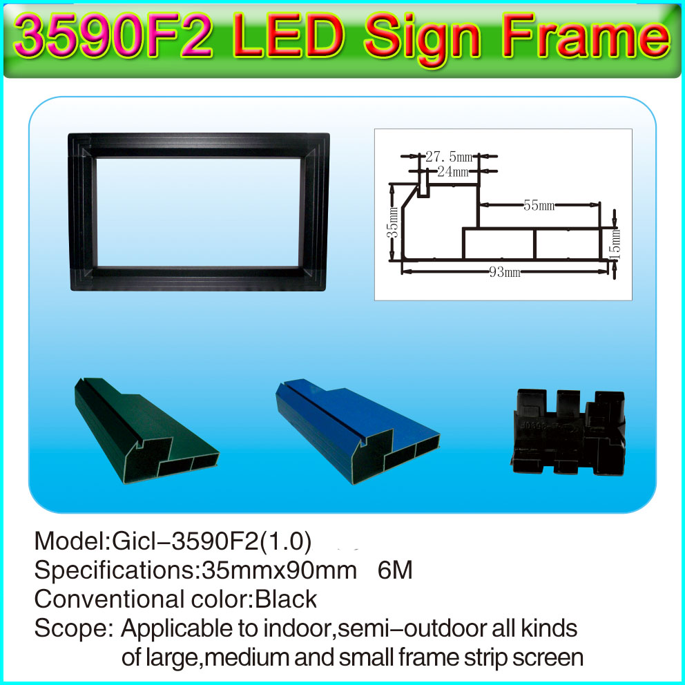 Gicl-3590F2  P10 Single&double Color And P3-P10 Full Color LED Signs Aluminum Frame, Suitable For All Kinds Small Screen