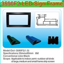 Gicl-3590F2 P10 Enkele & dubbele kleur en P3-P10 full color LED borden aluminium frame, geschikt voor alle soorten kleine scherm