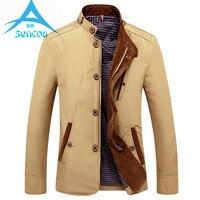Brand Spring Autumn Slim Fit Thin Stand Button Male Casual Jacket Men Short Windbreaker Blue Khaki