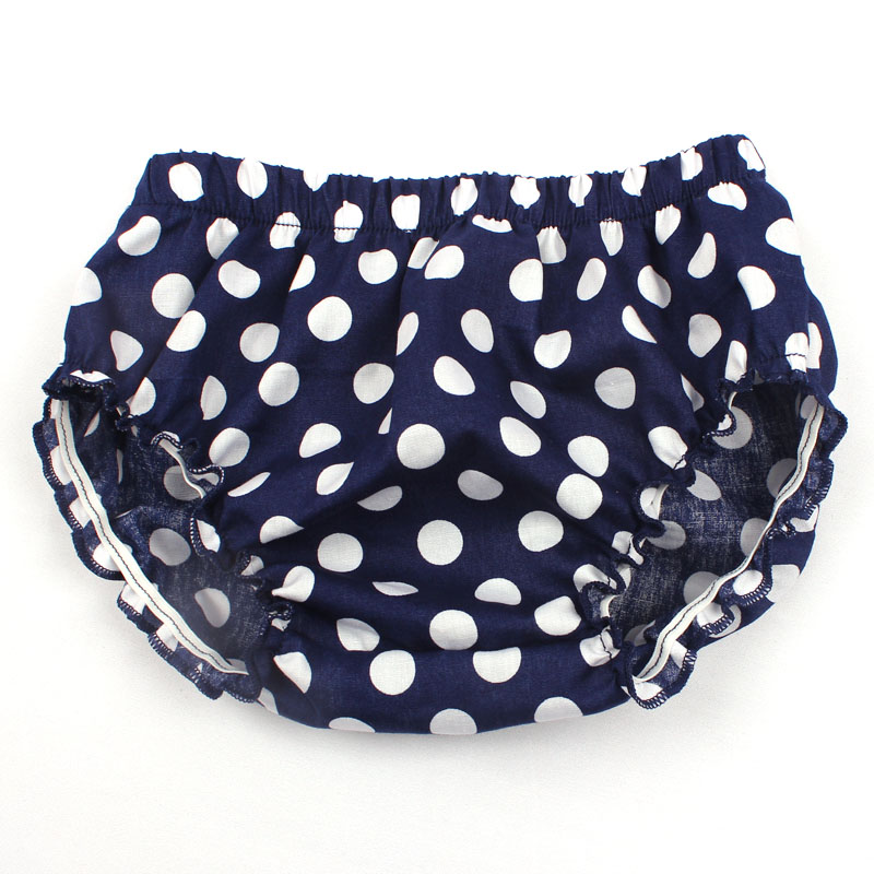 Baby Girl Fashion Ruffle Diaper Cover Baby Bloomers Toddler Cotton Dots Shorts Boy Clothes 3 Colors YC036
