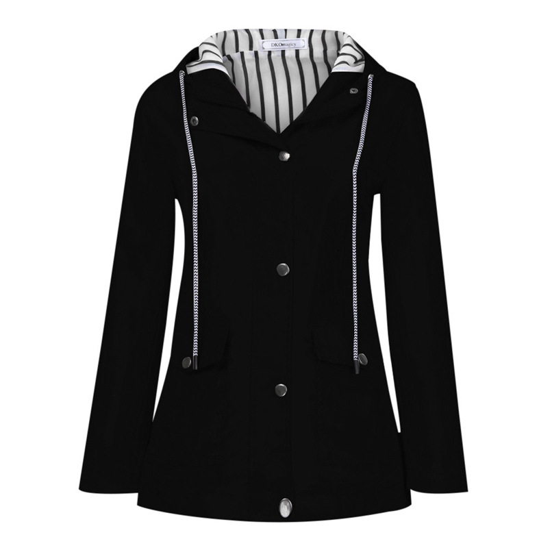 Rain Coat Women Plus Size Coat 2018 Long Sleeve Waterproof Jacket Hooded Raincoat Jacket Women Clothes Warm Coat Girl #O11 (35)