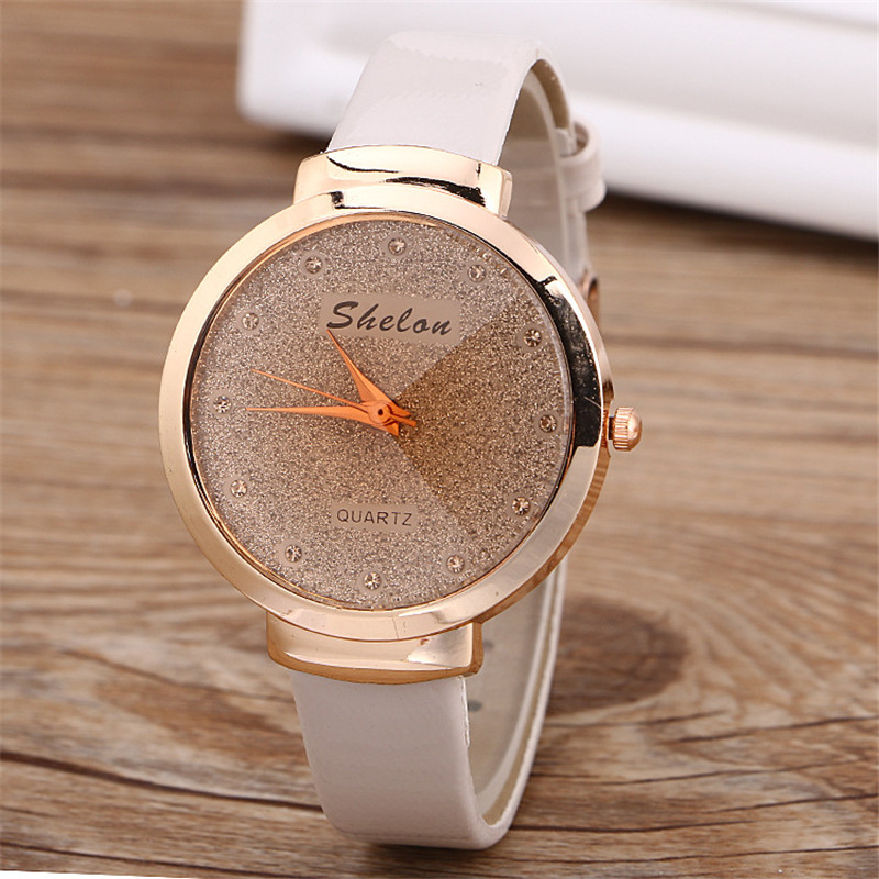 MEIBO Brand Relojes Mujer Ladies Wrist Watches Flashing Large Dial Leather Strap Life Waterproof Watch Women Dress Quartz-Watch restaurant bar equipment waiter calling buzzer system 2 main receivers with 20 bells 1 key call