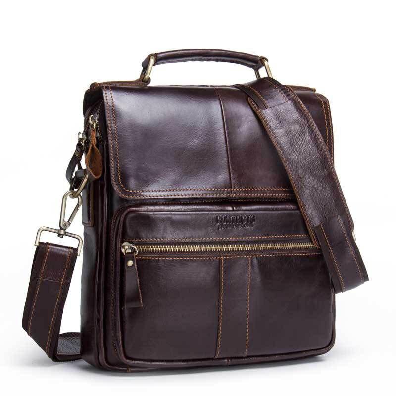 все цены на LOEIL Men's shoulder bag leather crossbody bag casual men's bag онлайн