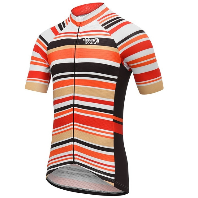 Stolen goat Striped Cycling Jersey short sleeve bicycle clothing Summer Line pattern maillot homme quick dry t shirt road bike 5
