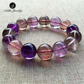 Siddhi 100% Natural Super Seven 7 Quartz Bracelets Purple Crystal Beads Stone Strand Bangle Wristband Charm Bracelets for Women