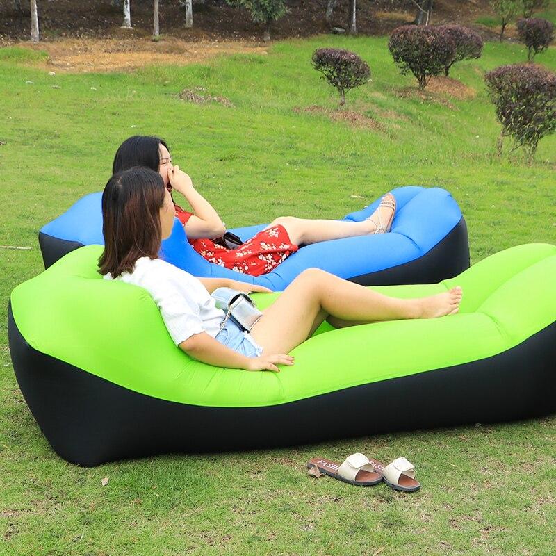 Camping Banana Air Sleeping <font><b>Bag</b></font> Fast Inflatable Air Sofa Hangout Lazy Lay <font><b>bag</b></font> Laybag Air Bed Chair portable air Couch
