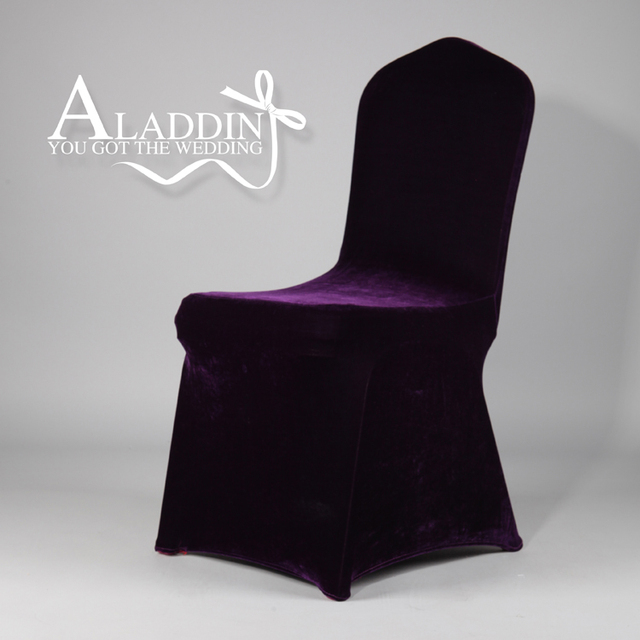 new pattern thick velvet cover chair for wedding party birthday customized chair cloth in pruple flat & new pattern thick velvet cover chair for wedding party birthday ...