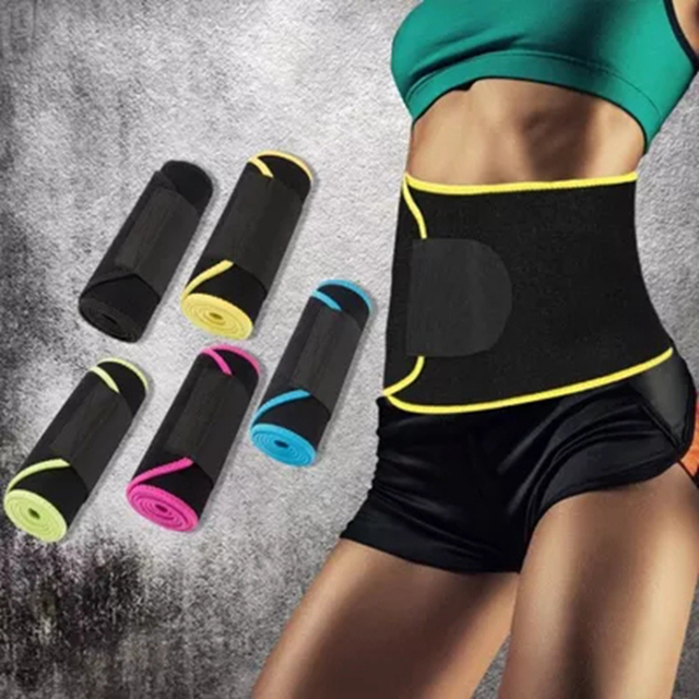 Adjustable Waist Tummy Trimmer Slimming Sweat Belt Fat Burn Shaper Wrap Band Weight Loss Exercise Men Women 4