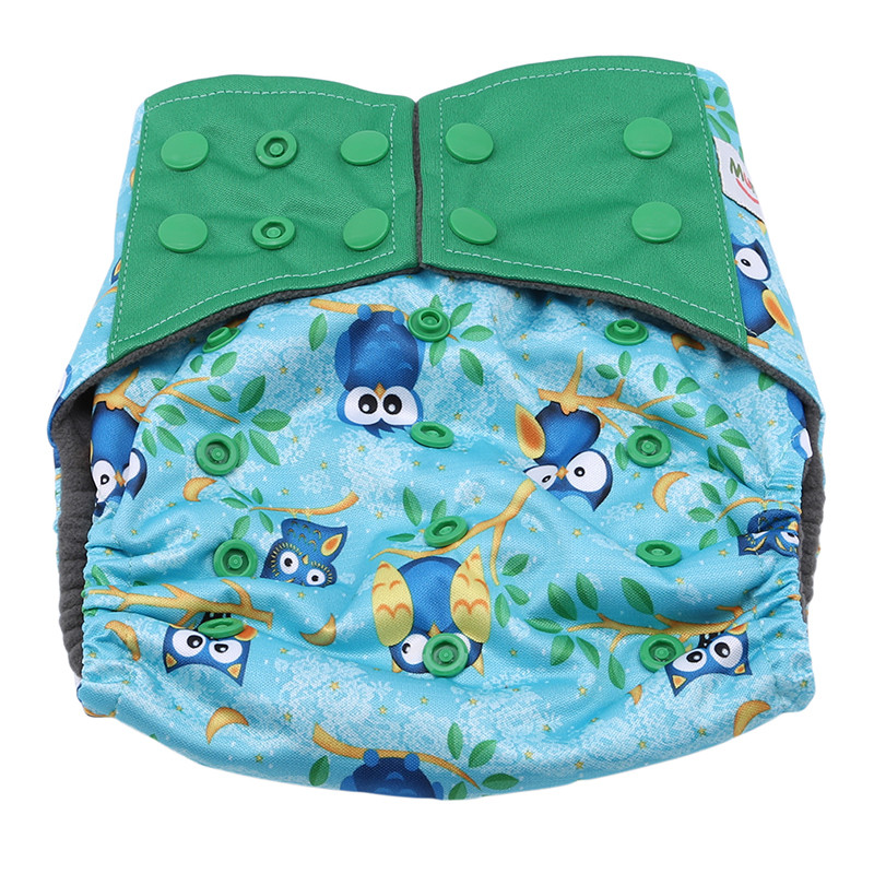 Charcoal Bamboo Inner Baby Washable Cloth Nappy Reusable Pocket Diaper Water Absorption Breathable Baby Years Diapers