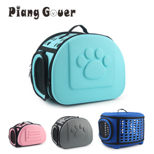 Pure Color Pet Carrier Bag Portable Outdoor Cat Foldable Dog Travel Pet Bag Puppy Carrying Shoulder Dog Bags