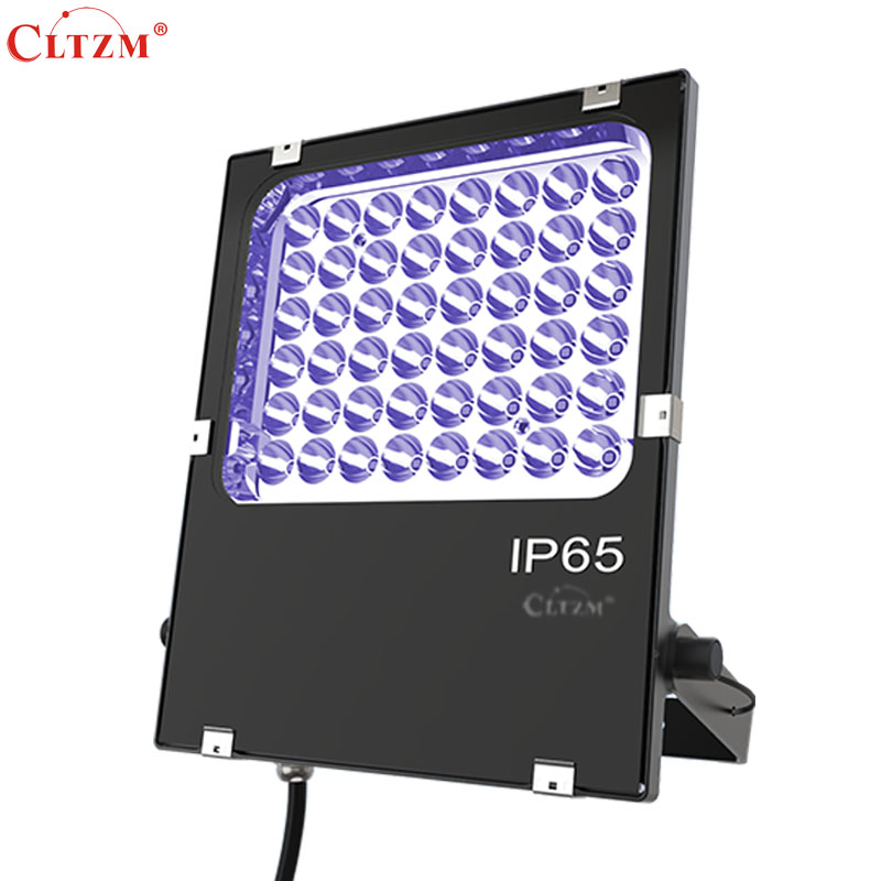CLTZM LED Purple Ultraviolet Lamp IP65 Waterproof 50W Garden Projector House High Power Flood Light Outdoor Lighting 90w led driver dc40v 2 7a high power led driver for flood light street light ip65 constant current drive power supply