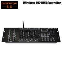 Gigertop освещения сцены TP D1344 DMX Беспроводной 192 свет этапа MIDI контроллер Совместимость USB светодиодная лампа 3Pin женщин DMX разъем