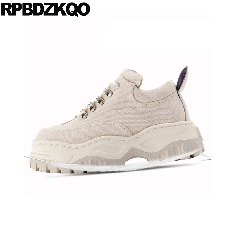 slip resistant breathable thick sole women muffin sneakers platform wedge elevator luxury trainers plain canvas shoes creepersslip resistant breathable thick sole women muffin sneakers platform wedge elevator luxury trainers plain canvas shoes creepers