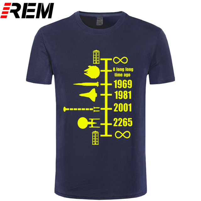 SpaceShip Timeline T-Shirt Inspired by Doctor Who StarWars Star Trek Funny top cotton short sleeve t shirt Gift tshirt 3