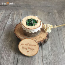 1pcs Rustic Vintage Wooden Ring Box Wedding Decor Marriage Wood Rings Boxes Party Decorations Supplies (without rings)