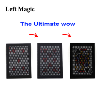 The Ultimate WOW 3.0 Version Change Twice Ultimate Exchange Magic Tricks Close Up Street Bar Cards For Tricks свитшот print bar wow