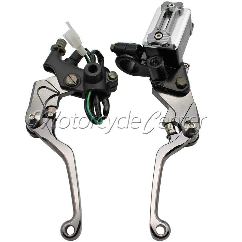7/8 22mm Brake Hydraulic Master Cylinder Kit Reservoir Levers For Yamaha YZ 80 85 WR 250F 450F 250R TTR 600 125 SEROW 225 250