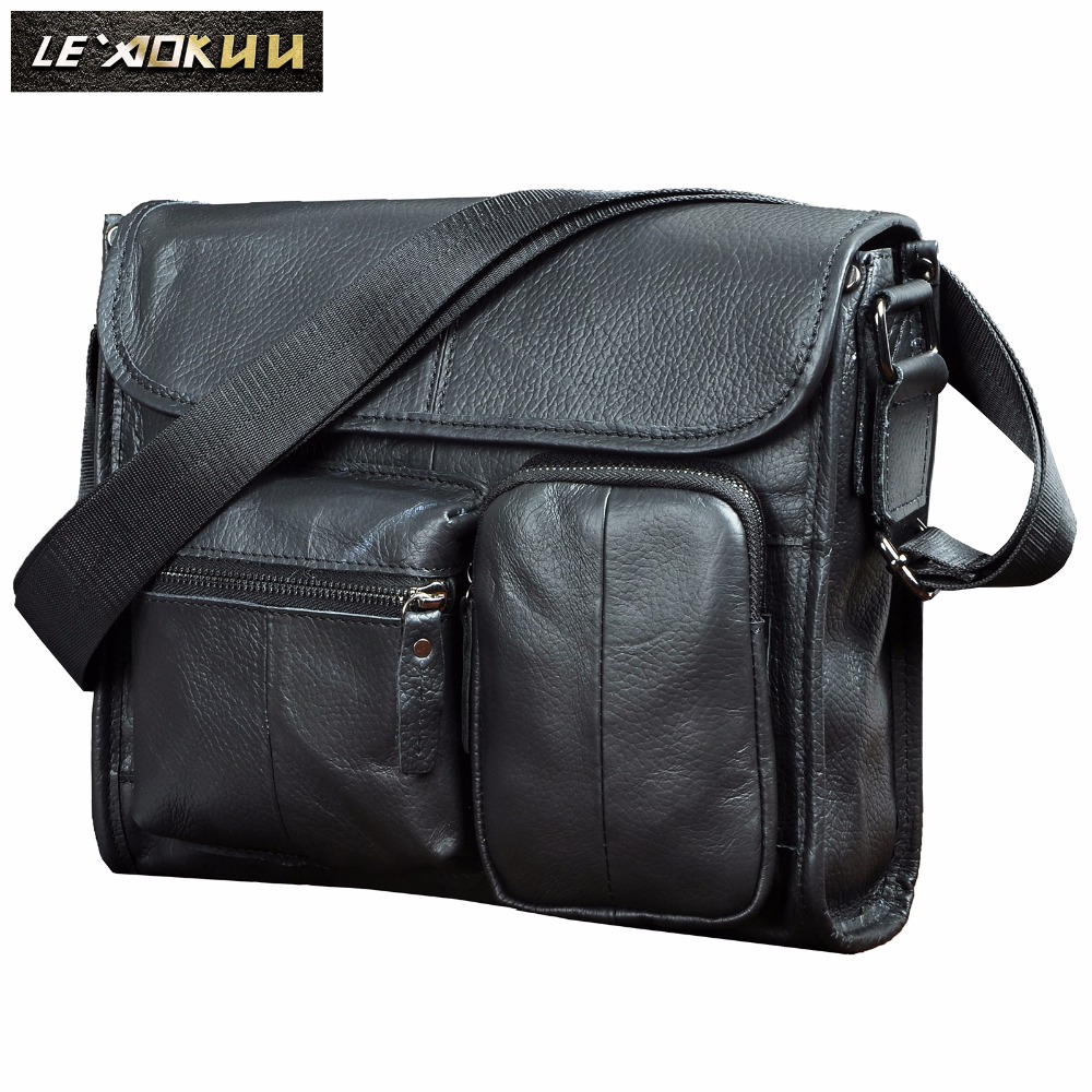 b7f8d2ee43c5 Leather Male Design Casual Shoulder Messenger Cross body bag Fashion 11