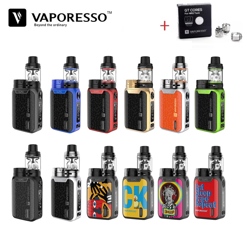 Original Electronic Cigarette Vaporesso Swag Kit 80W 18650 Box Mod with 3.5ml Vape Tank GT Coil Vaporizer E-Cigarette VS Smok