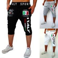 Fashion 2017 Summer wear shorts Italy digital printing design Hip Hop Fitness Sports Elastic waist casual pants male sweatpants