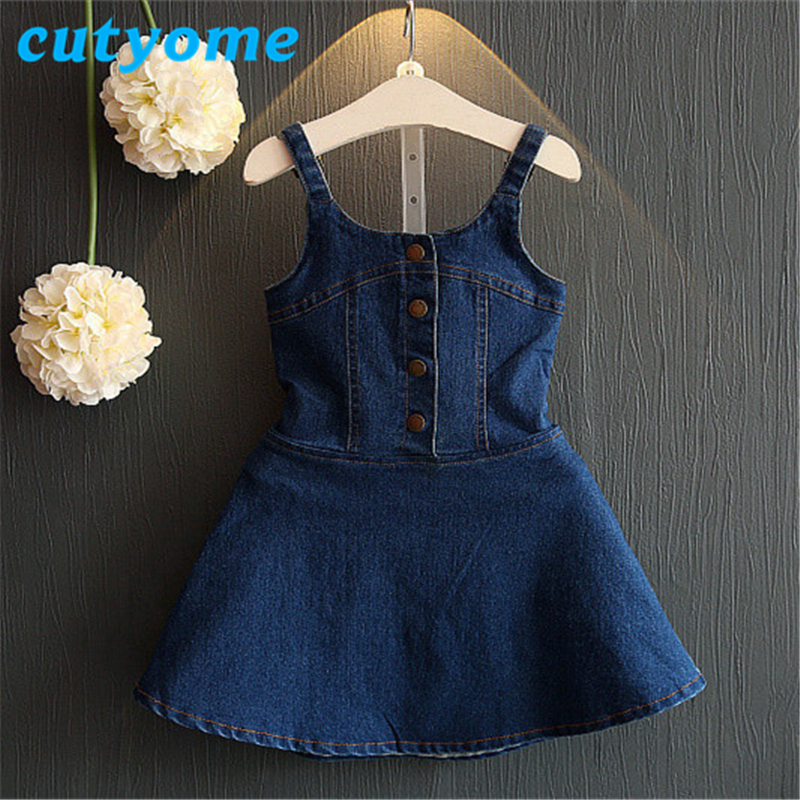 5dee405d ... Summer Baby Girls Denim Backless Dresses Toddler Kids Overalls Jeans  Dresses Fashion Children Bull-puncher Clothes. -44%. Click to enlarge