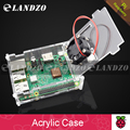 Raspberry Pi 3 model B acrylic Case transparent Shell Cover with Cooler Fan Also Compatible with Raspberry pi 2