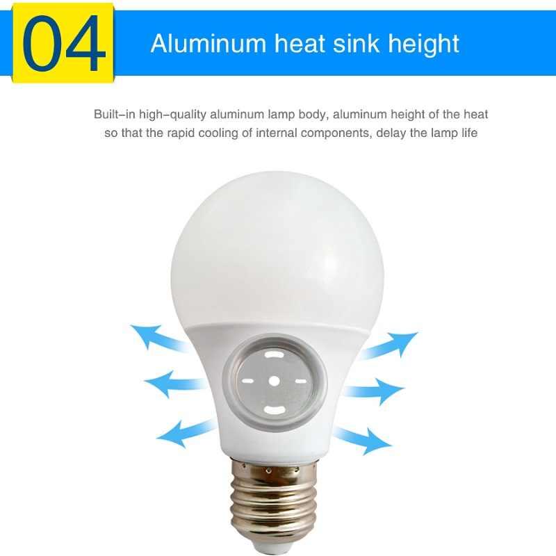 10pcs DC 12 V หลอดไฟ LED อลูมิเนียมหลอดไฟ E27 สีขาว/อุ่นสีขาว LED ในร่ม 3 w/5 W/7 W/9 W/12 W/15 W กลางแจ้ง,