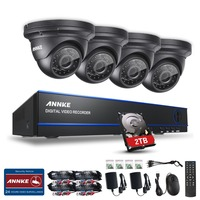 ANNKE 8CH HD 2 0MP 1080P DVR Outdoor Night Vision CCTV Security Camera System 2T