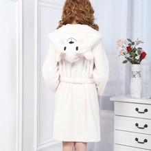 Autumn Winter Homewear Long Sleeve Hooded Robes Cute Animal Little Sheep Bathrobe Sexy Loose Sleepwear Robe