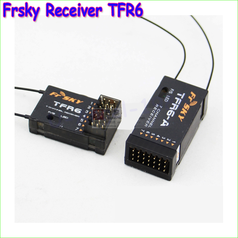 1pcs New 100% Original FrSky 2.4G 7channels receiver TFR6 TFR6A For Futaba Wholesale все цены