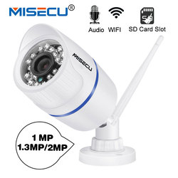 MISECU WiFi IP Camera Audio Record Sound 720P 960P 1080P HD Network with SD card slot and  Waterproof Night Vision Power Supply