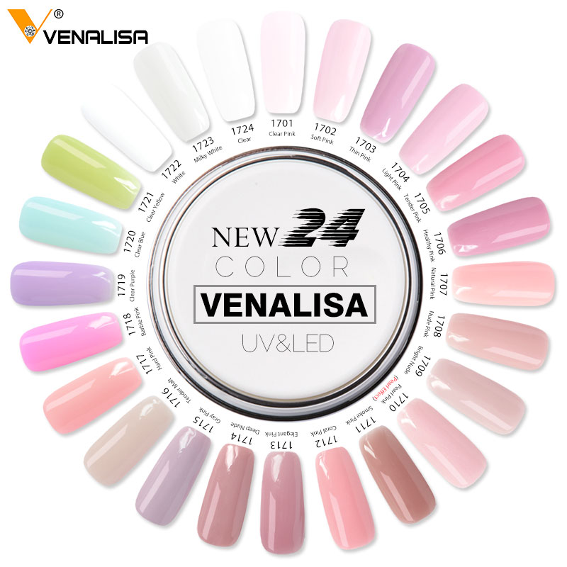 Image 4 - VENALISA 15ml Hard Jelly Gel 24 Camouflage Color CANNI Nail Art Manicure Quality Poly Gel Nail Builder Extending Hard UV LED Gel-in Nail Gel from Beauty & Health
