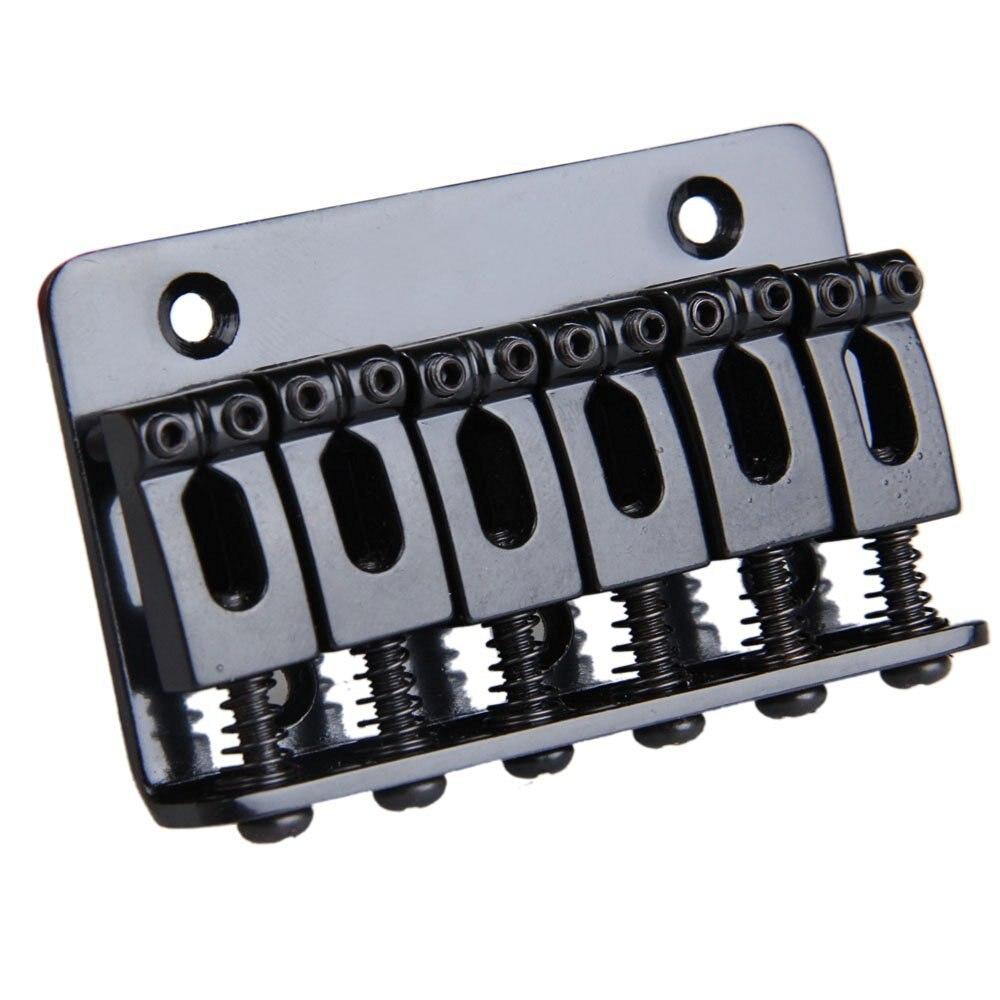 HOT 8X 6 Saddle Hardtail Bridge Top Load 65mm Electric Guitar Bridge (Black) 8pcs 6 saddle hardtail bridge top load 65mm electric guitar bridge black