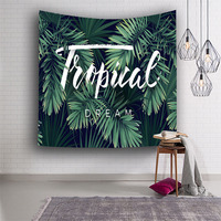 Home Decor wall Tapestry Cactus 3D Printing Art Hanging Green Tapestry Banana leaves Indian Boho Wall Hippie Tapis Carpet Sheet