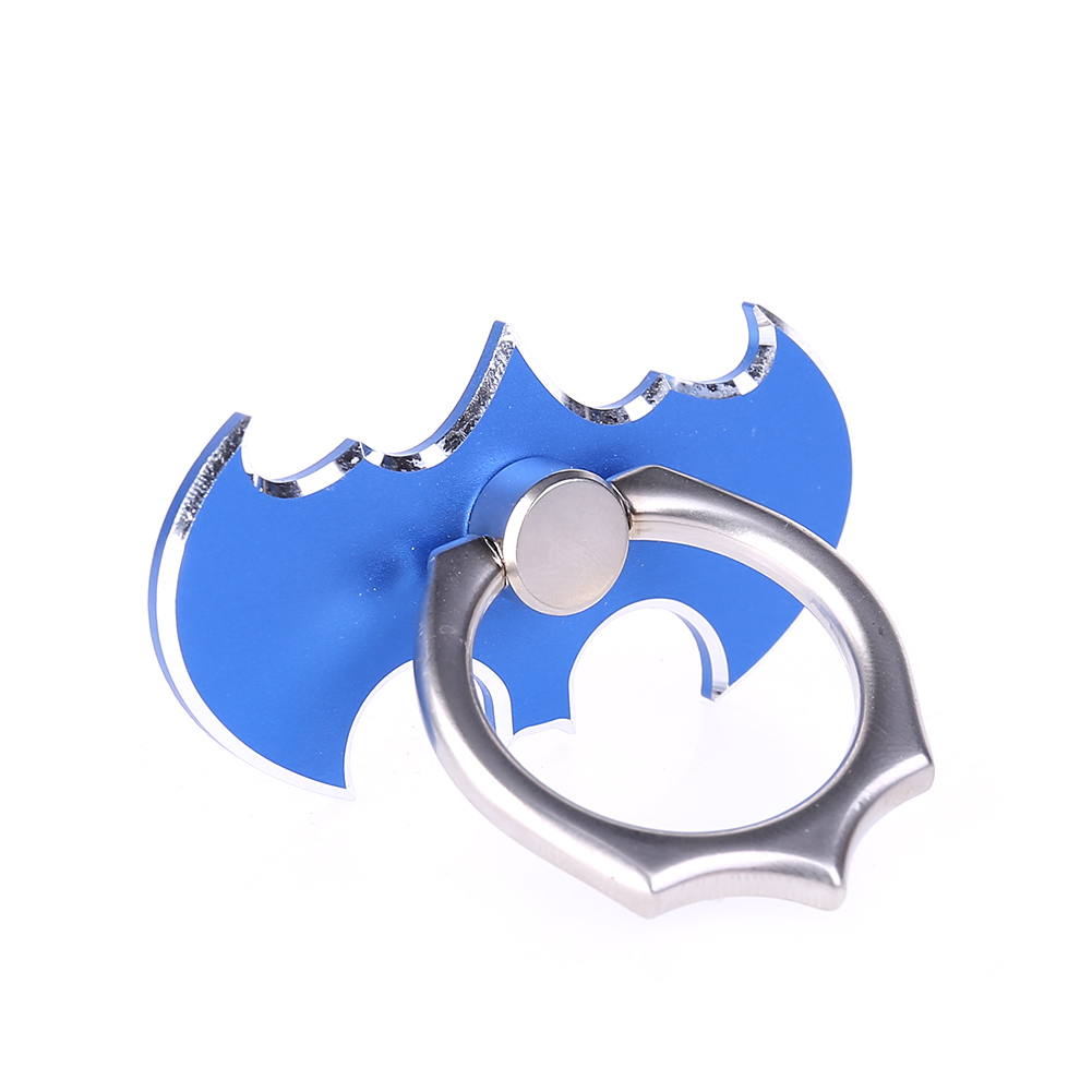New Luxury Batman Metal Universal Finger Ring Smartphone Mobile Cell Phone Hand Desk Stand Holder Repeated 360 Rotating