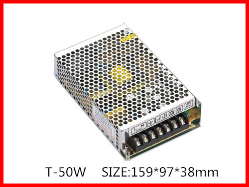 50W 5V 12V -5V  Triple Output Switching power supply  AC-DC Free Shipping T-50A