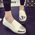 Leather loafers women slip on shoes glitter flat fashion loafers casual driving shoes woman brand flats ladies shoes