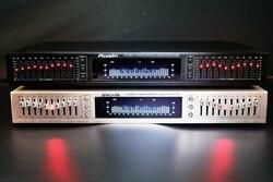 ECUALIZADOR DE EQ-665 hifi Home EQ ecualizador doble 10 banda estéreo triple Alto bajo ajuste con Bluetooth y pantalla