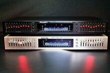 EQ 665 אקולייזר hifi בית EQ אקולייזר הכפול 10 להקת סטריאו טרבל אלטו בס התאמה עם Bluetooth ותצוגה