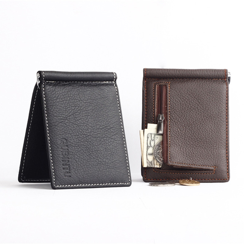 GUBINTU Genuine Leather Men Wallets Business Men Purses Brand Designer First Layer Cowhide Male carteira masculina--BID066 PM49 kavis men long wallets genuine leather luxury brand designer purse men first layer cowhide men day clutches bag
