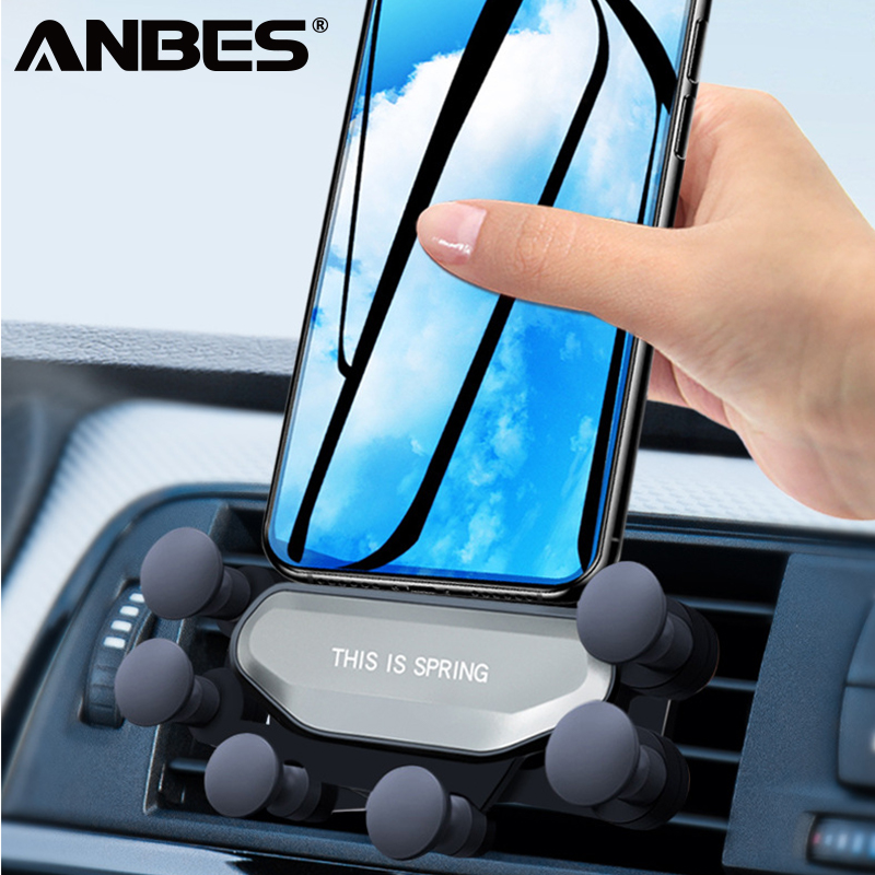 Overfly Gravity Car Phone Holder For iPhone X XS Max XR Air Vent Mount Car Holder For Samsung S9 OPPO Phone Stand Telefon Tutucu