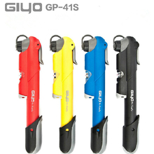 bike pump GIYO GP-41S Made in Taiwan Pressure Gauge  mountain mini bicycle air pump cycling accessories  (A/V) (F/V)