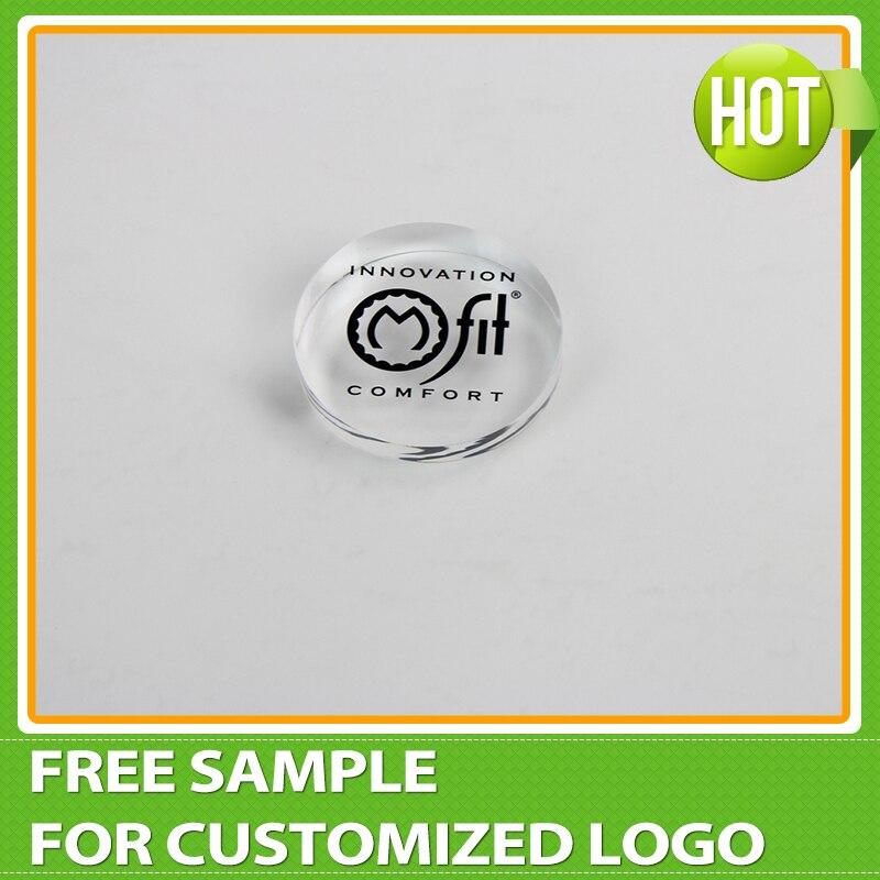 Wholesale Clear Round Acrylic Plexiglass Stamp Block Display, Acrylic signage