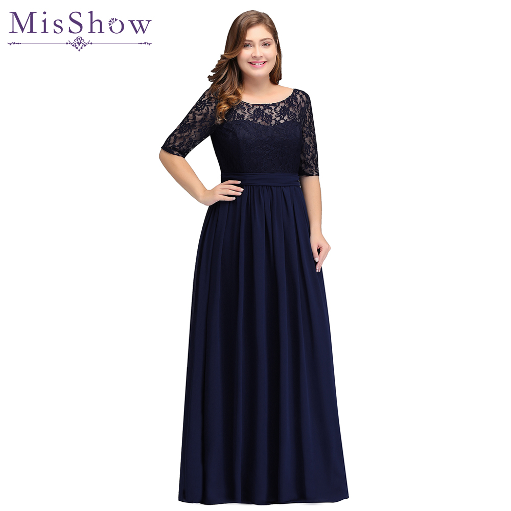 Cheap Party Evening Dresses 2019 Mother Of The Bride Dresses Chiffon Lace Plus Size Long Evening Gown Backless Dress With Bow