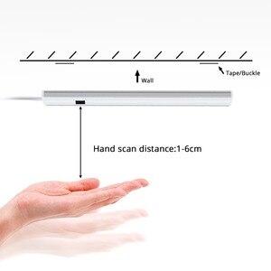 Image 4 - 5W 6W 7W Hand Scan Sweep sensor LED Bar Light 12V LED Tube Cabinet light Lamp Hand Motion Sensor LED Kitchen lamp 30cm 40cm 50cm