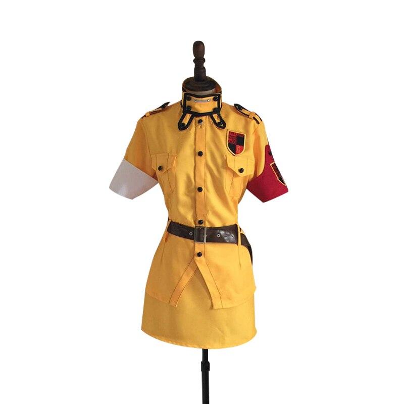 Red Seras Victoria Cosplay: Anime Hellsing Seras Victoria Yellow Uniform Cosplay
