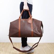 LAN Free shipping men s PVC large travel bag high quality handbag simple travel bag men