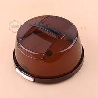Cake box plastic Portable una sola pieza lockbutton capa doble bolsa frío engrosamiento 4