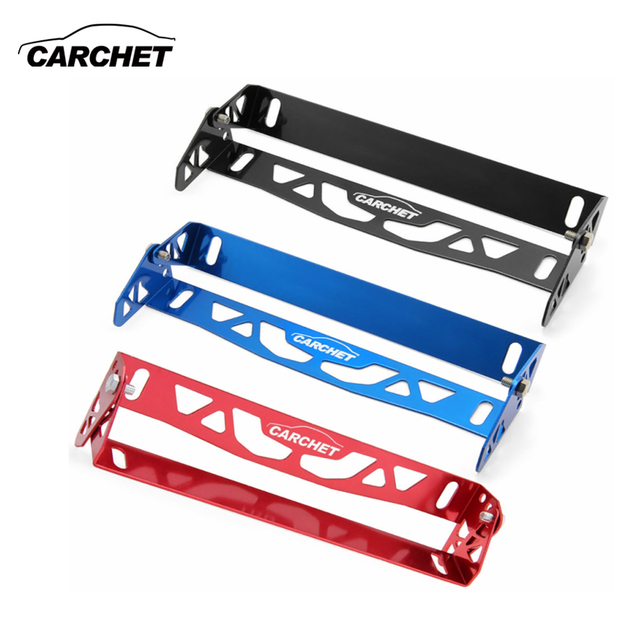 carchet universal license plate frame car styling registration plate power racing tag holder aluminum alloy plate - Mermaid License Plate Frame